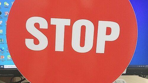 Bảng stop cho barie tự động
