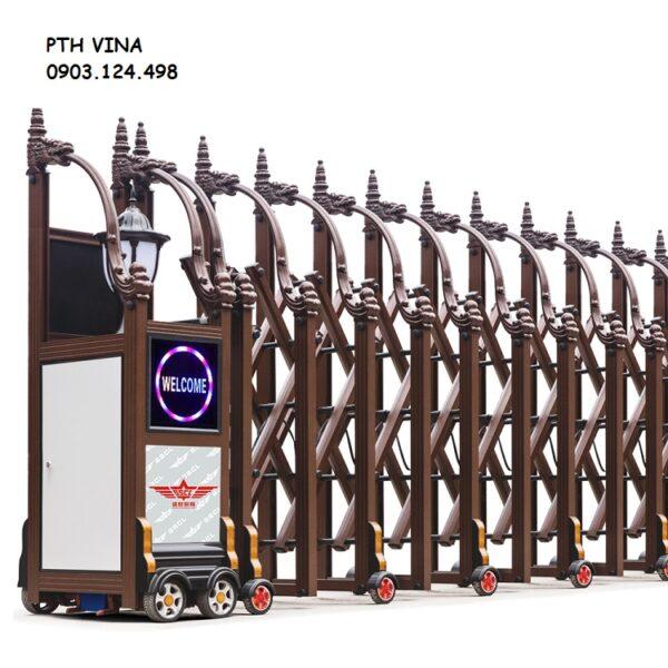 Cổng xếp điện tự động