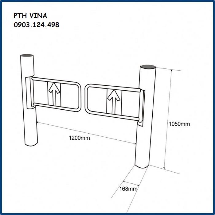 Kích thước cổng swing barrier