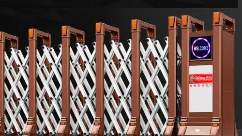 cổng xếp điện hợp kim nhôm
