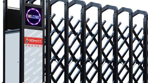 cửa cổng xếp điện không ray