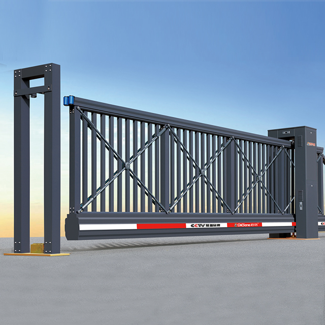 cửa cổng xếp trượt tự động