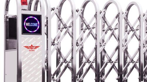 cửa cổng xếp tự động