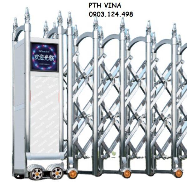 cửa rào xếp inox tự động