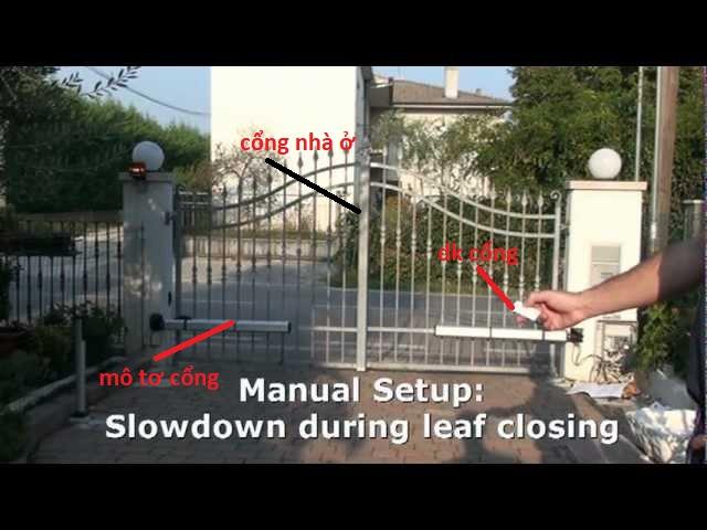 Cấu tạo cổng tự động