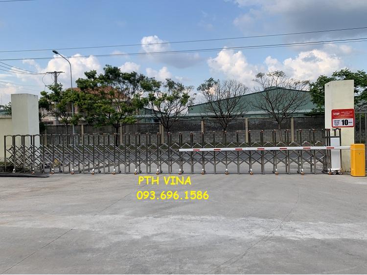 Cửa cổng xếp điện