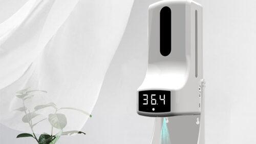 Máy xịt cồn cảm ứng kết hợp đo thân nhiệt